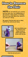 My Little Pony Custom Guide - Removing the Hair