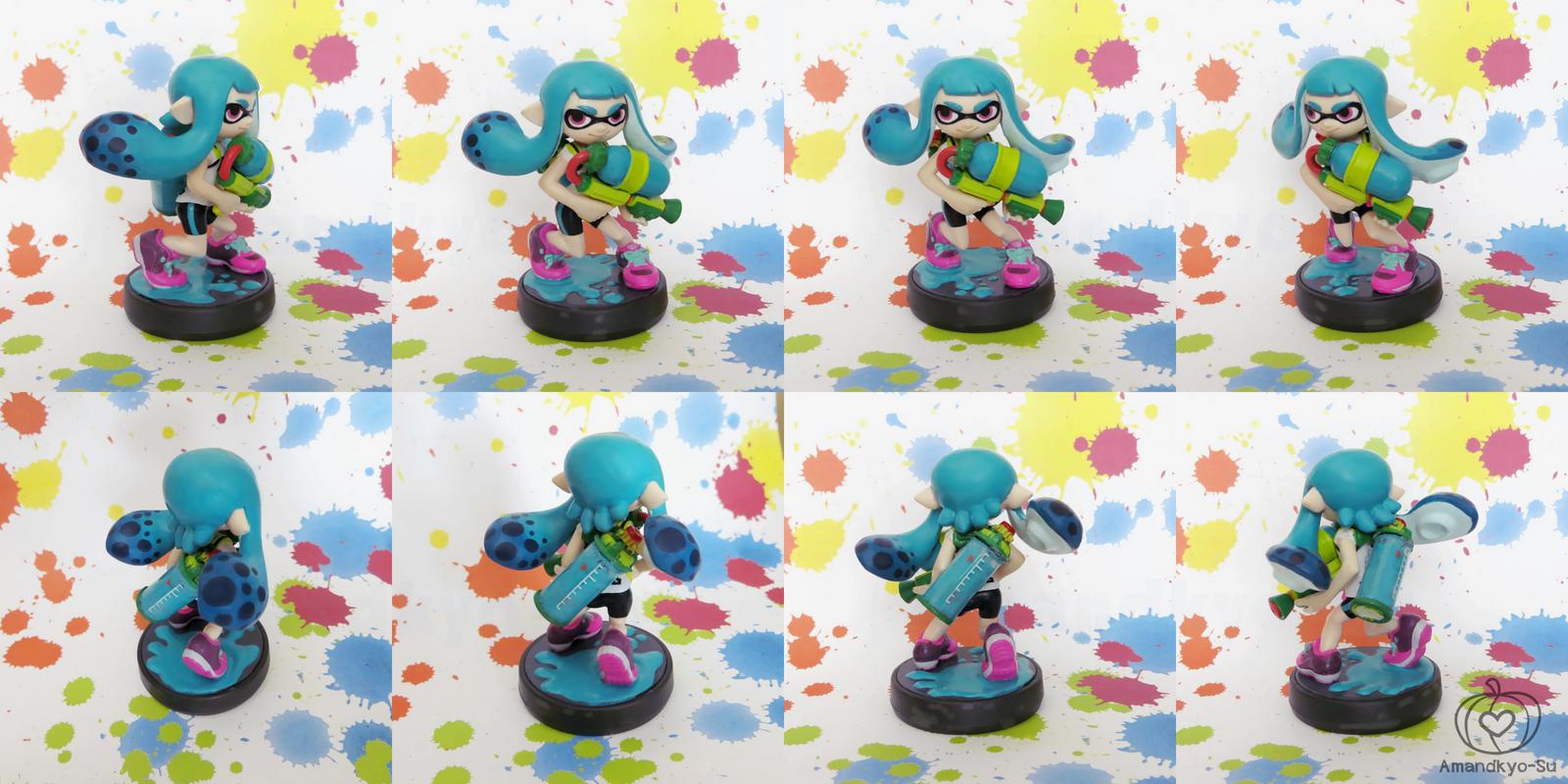 Inkling Girl Custom Amiibo by Amandkyo-Su