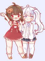 Himawari and Shiori by MarnyQuinn