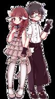 [C] Ren and Kaori by MarnyQuinn