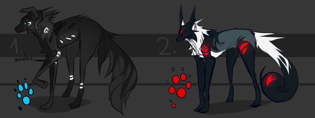 Canine Adoptables Point/paypal Auction open by Aohen