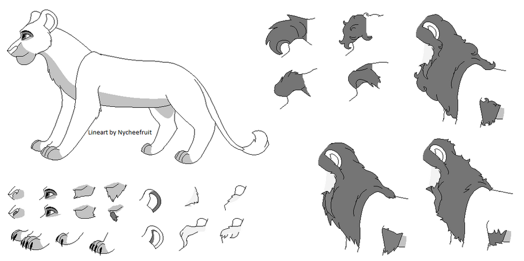 Line Art Generator From Image : New lion lineart maker by nycheefruit on deviantart