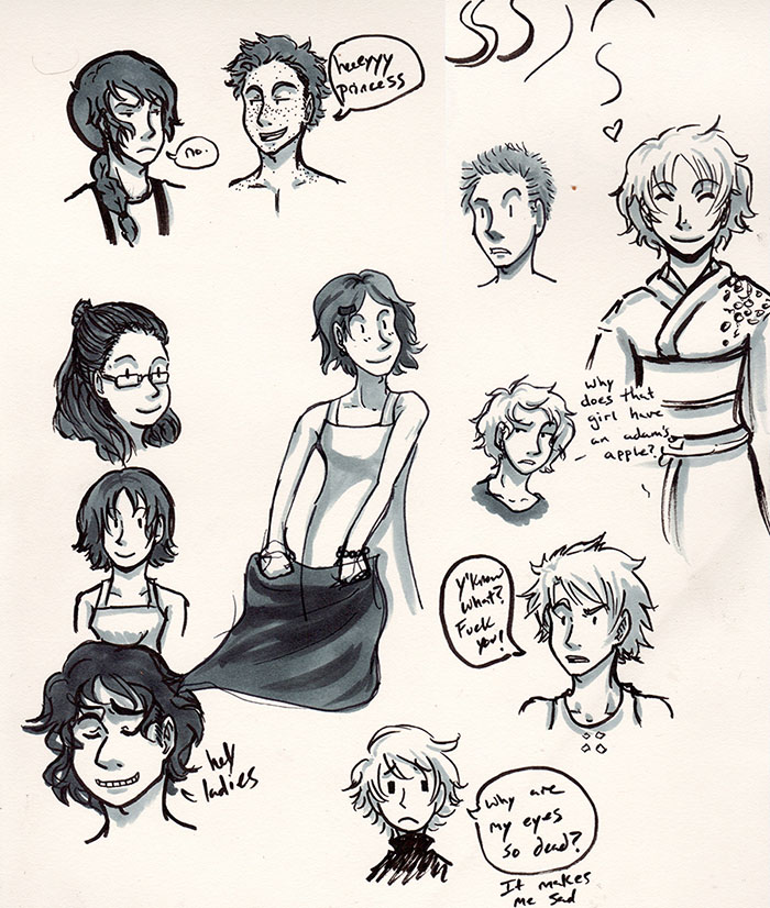 Sketchbook 1 by AndMaybeASoda