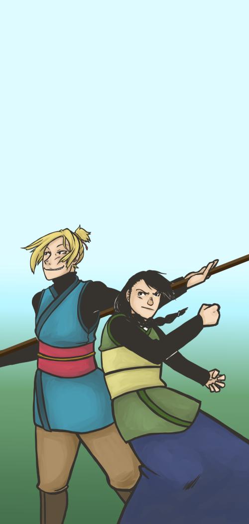 Duel vs Kuro by AndMaybeASoda