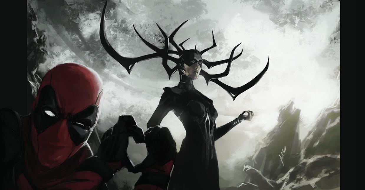 Hela x Deadpool by themimig