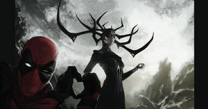 Hela x Deadpool by themimig