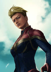 Captain Marvel by themimig