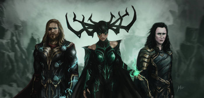 Odinsdottir, Odinson and the Laufeyson