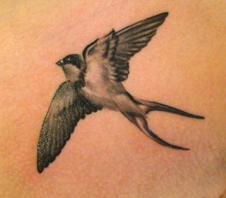 Swallow tattoo by jrunin on deviantart for Realistic bird tattoo