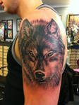 yet another wolf tattoo