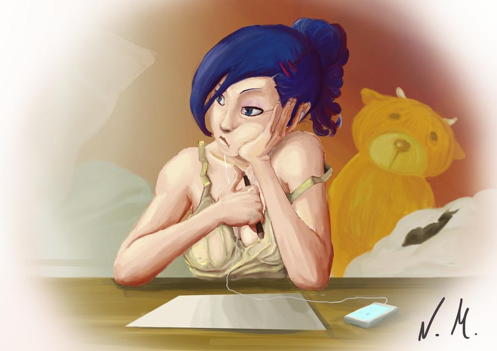 Bored Girl by NotsoSavageMic