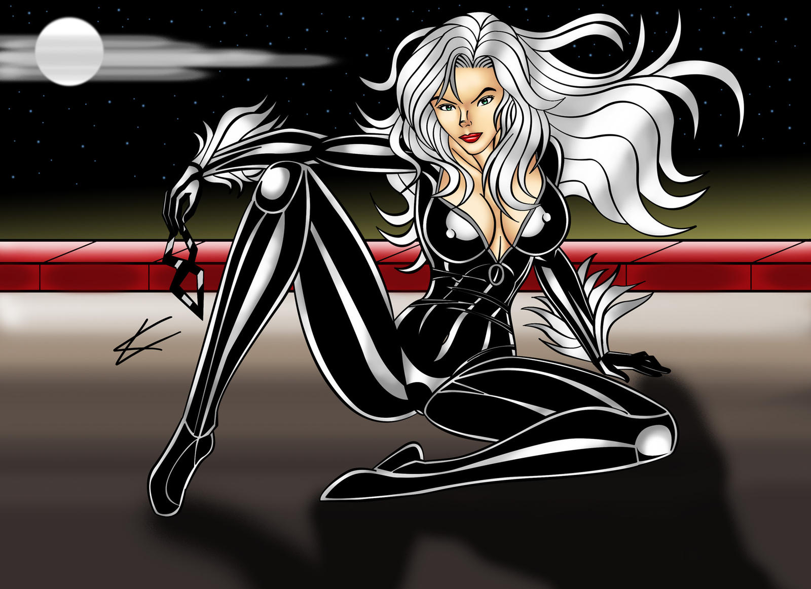 Blackcat Moonlighting by thequestionmark