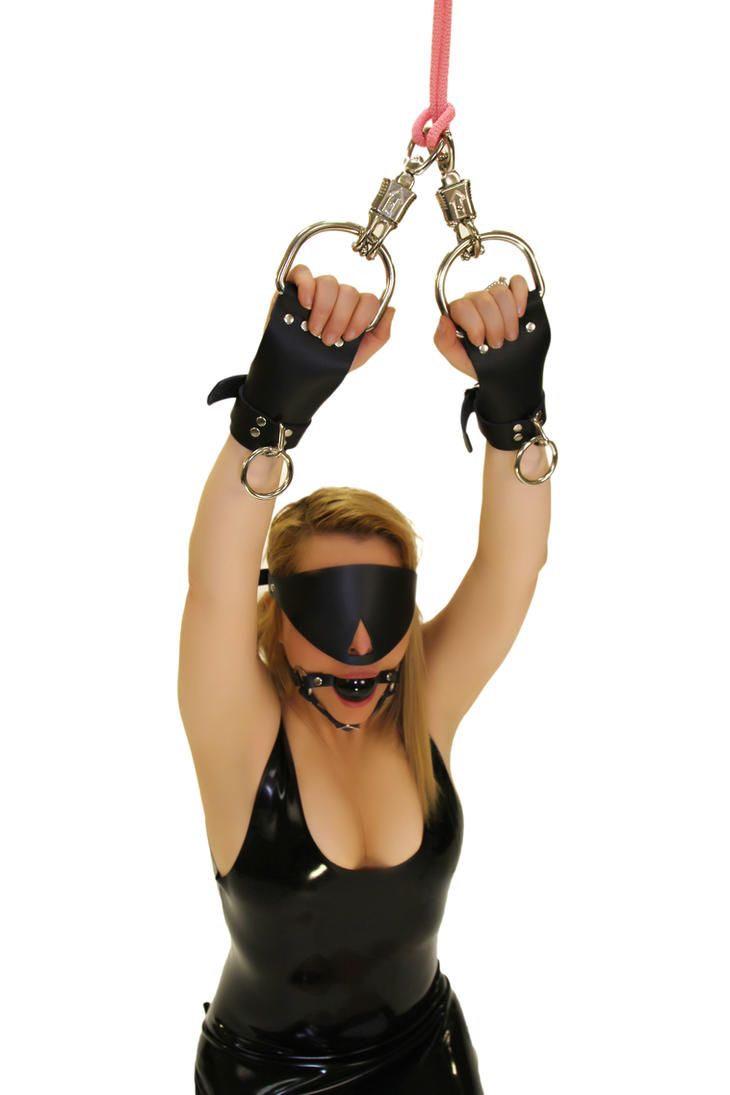 Behaved blonde sub is suspended with black suspens by subshopautumn
