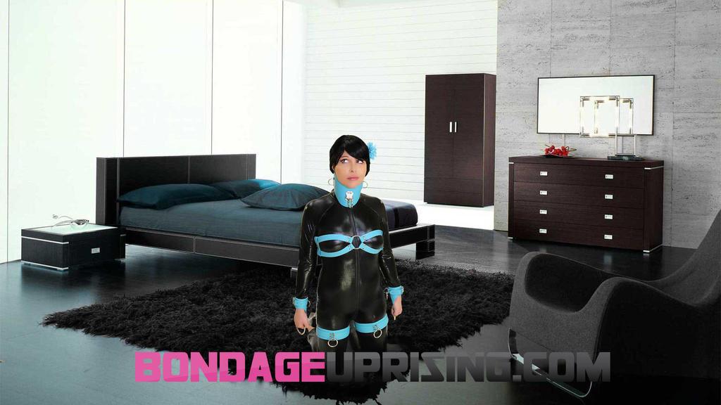Bondage-Couture-Tiffany-Blue-Leat by subshopautumn