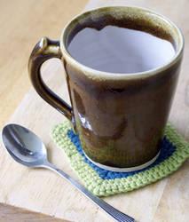 Handmade brown drip mug by scarlet1800