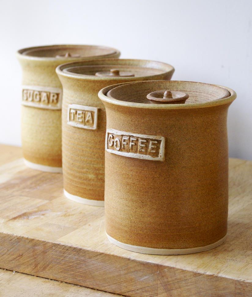 Tea, coffee, sugar jars by scarlet1800