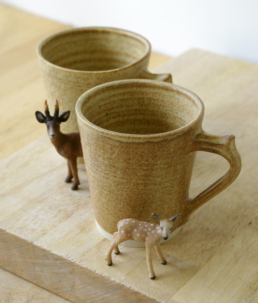 Set of two tea mugs by scarlet1800