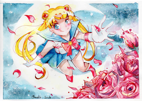 I am Sailor Moon, champion of justice!
