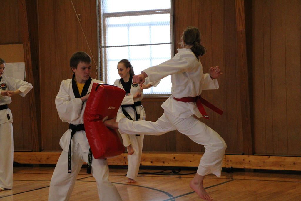Taekwondo Jumping Back...