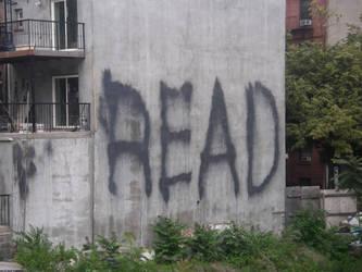 NYC- Positive Message Graffiti by Kabuki-Sohma