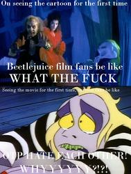 Beetlejuice Film To Cartoon Meme