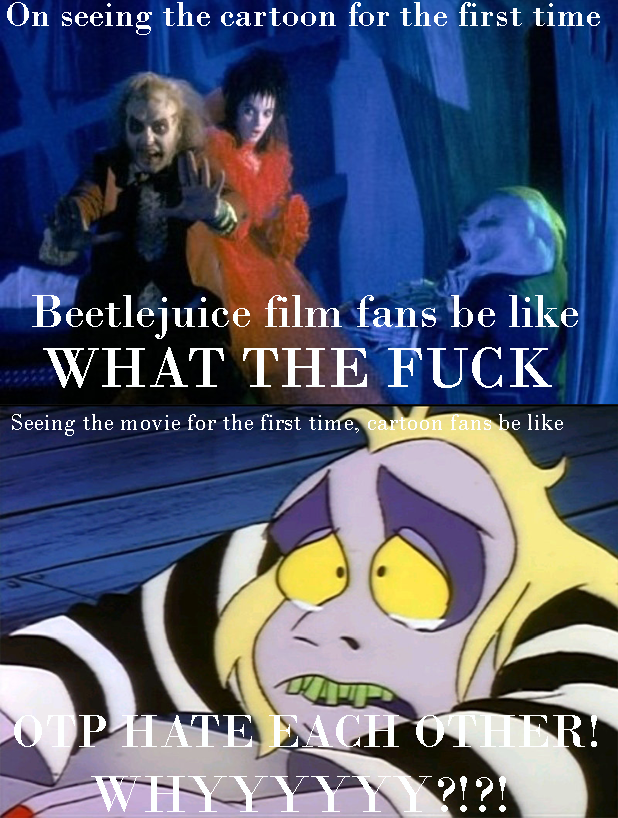 Beetlejuice Film To Cartoon Meme By Kabuki Sohma On Deviantart
