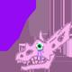 Pastel Goth Triceratops Skull Cursor by Kabuki-Sohma