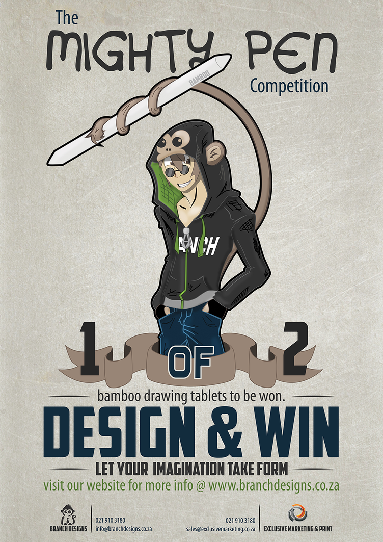 Branch Designs - Mighty Pen competition (Poster) by BranchDesigns