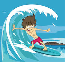 30 Day challenge! - No 21 - Surfer guy by BranchDesigns