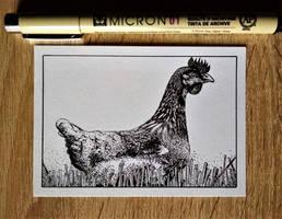 Inktober 2018 - Day 5 - Chicken by StephanoAnt