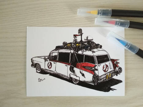 Ecto-1 - Ghostbusters - Color