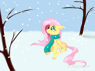 Flutty and snow by TwilightWolf91
