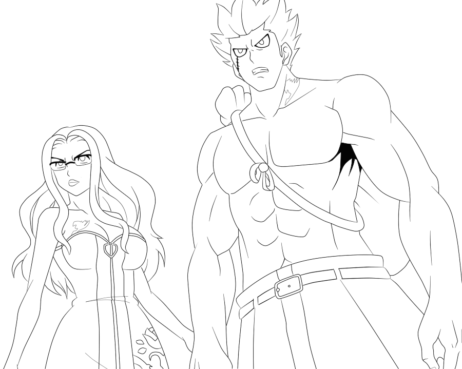 Elfman And Ever Green Lineart By N750 On Deviantart