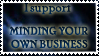 Anti nosy people stamp by Arcwelder1
