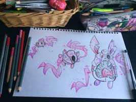 Igglybuff, Jigglypuff and Wigglytuff (Britannia F) by TheBritanniaRegion