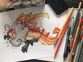Mega Feueratrix by TheBritanniaRegion