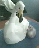 adult swan and sygnet by mor4674j