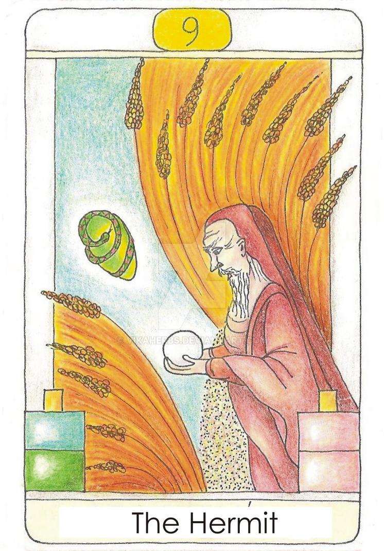 Tarot: The Hermit by vikaherbs