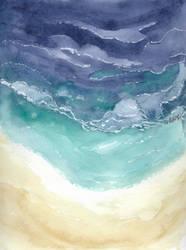 Ocean - watercolor training
