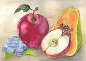 Fruits - watercolor training