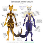 Squishdragons characters design sheet
