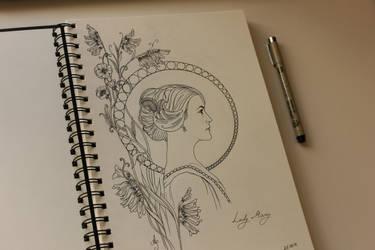 Lady Mary Crawley by Earendiel
