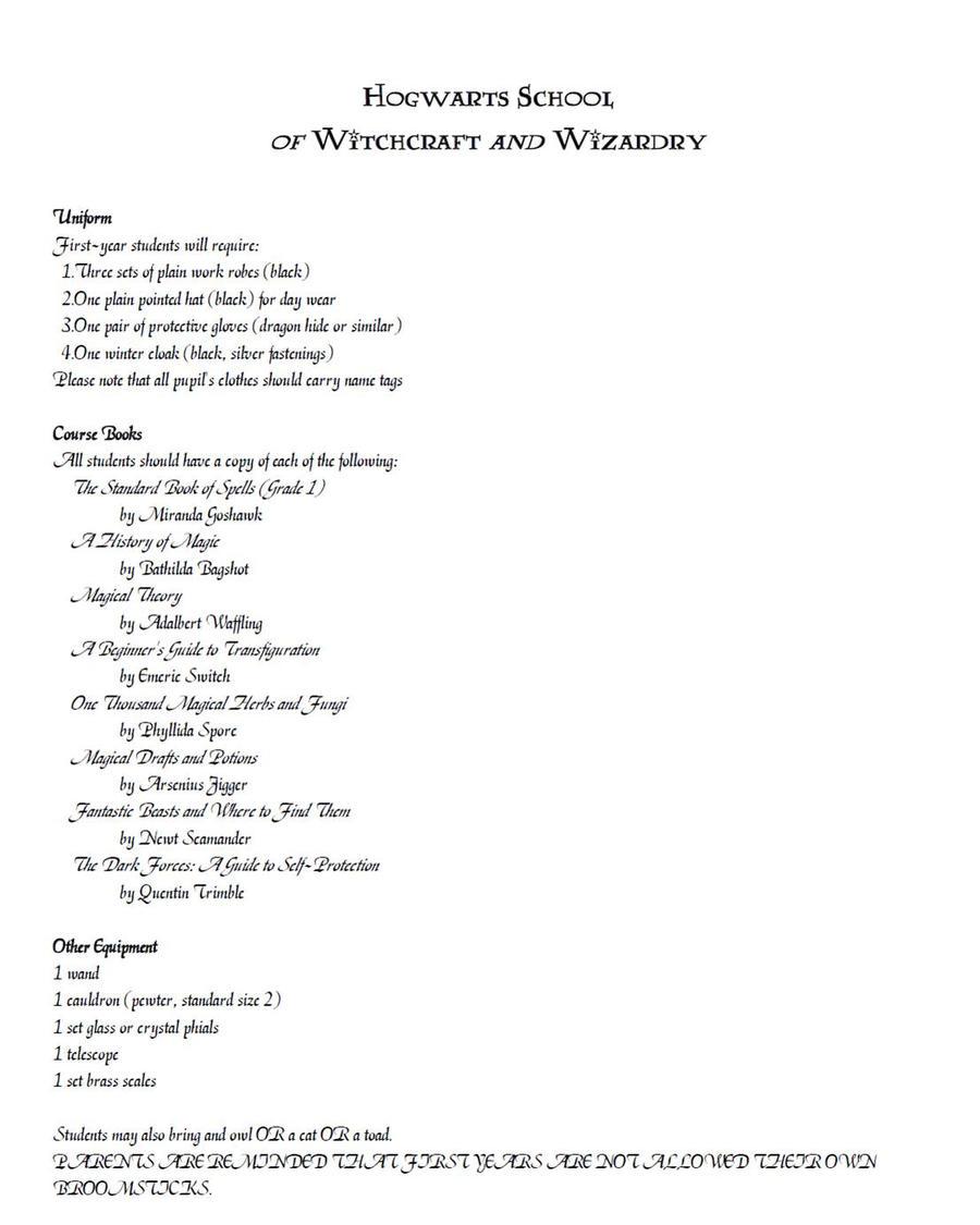 Hogwarts Acceptance Letter 2 By Aphroditeamaranthus On