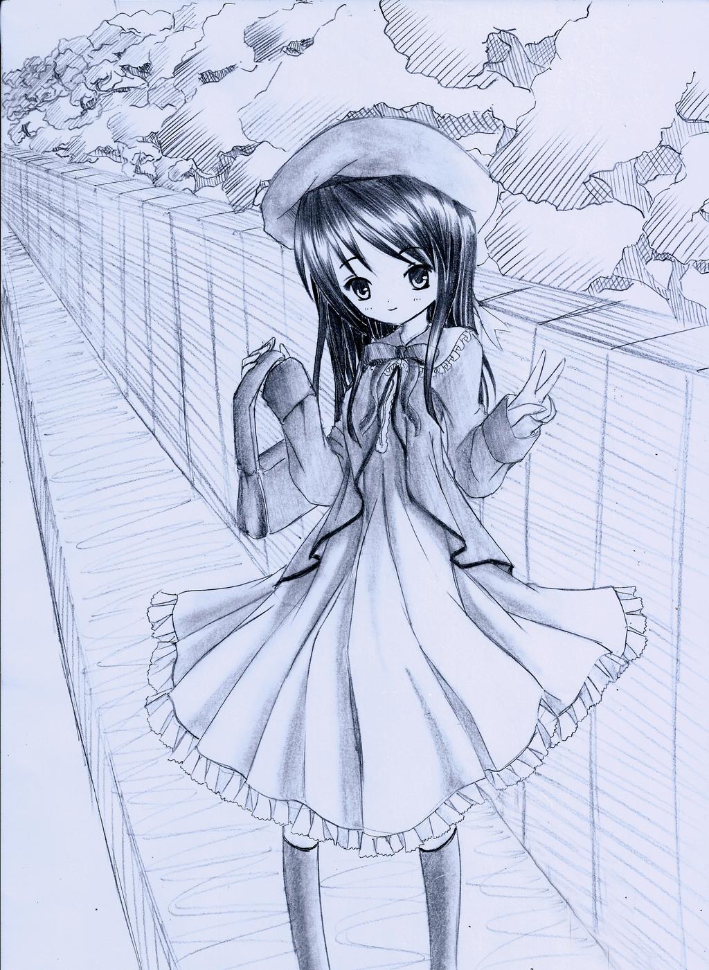 Cute girl smiling by Kudo008