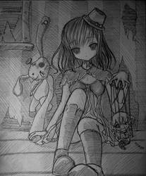 girl in an abandoned house by Kudo008