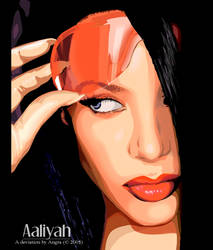 Aaliyah Vector. by kimag3500