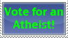Atheist Vote by PaleoClipperArt