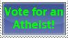 Atheist Vote by PaleoClipperArt