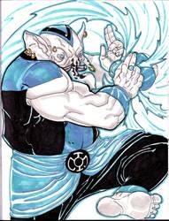 BLUE LANTERN BROTHER WARTH by HELLISHSINESTRO