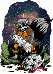 Rocket Raccoon To Color 3 by HELLISHSINESTRO